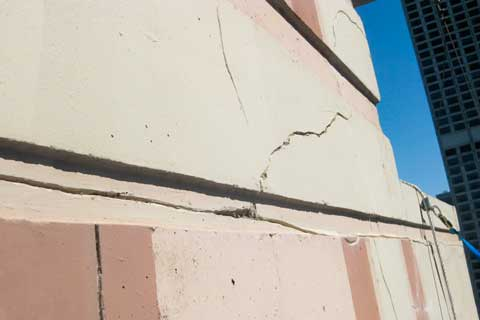 Exterior Building Wall Cracked Sealants